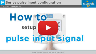 In this tutorial we will set the pulse input on the F-Series Flow rate Indicators, Totalizers and Flowcomputers.